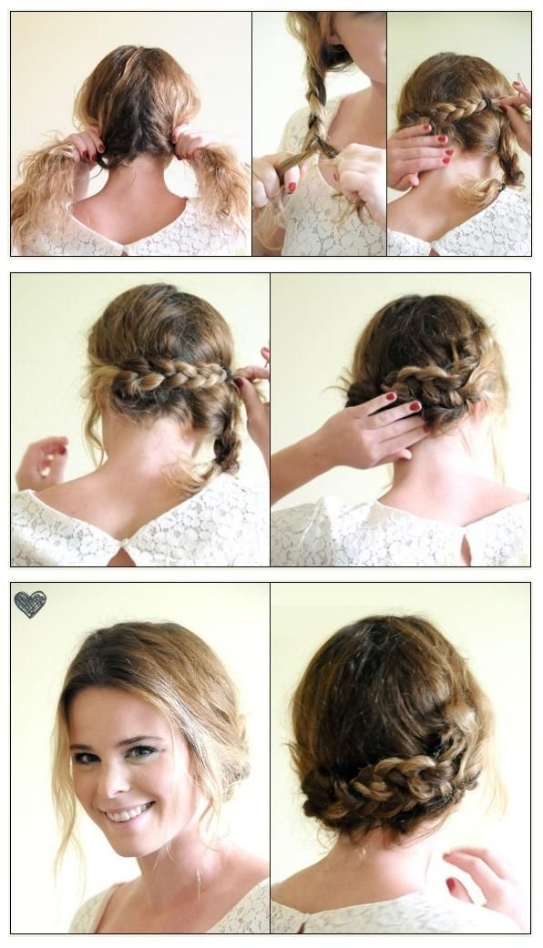 easy double braid updo tutorial