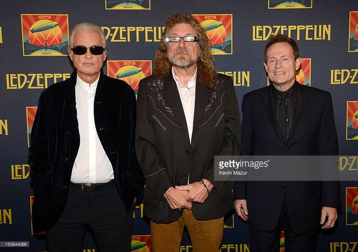 Jimmy Page, Robert Plant and John Paul Jones attend the premiere of 'Led Zeppelin: Celebration Day' at Ziegfeld Theatre on October 9, 2012 in New York City. Led Zeppelin's John Paul Jones, Jimmy Page, and Robert Plant along with Jason Bonham attend premiere of Celebration Day at Ziegfeld Theatre in New York. Celebration Day captures their 2007 tribute concert for Atlantic Records Founder Ahmet Ertegun at London's O2 Arena. Film will be released worldwide on October 17, 2012 by Omniverse…
