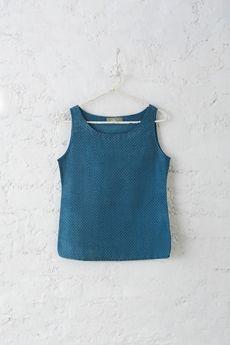 Goodearth - Indigo:Boond Cotton Silk Top