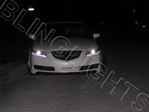 2004 2005 2006 2007 2008 Acura TL LED DRL Headlamps Headlights Head Lamps Lights Strips