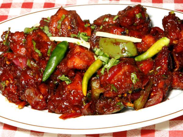 Hakka Chilli Chicken: The Hakka style chilli chicken is a very delicious dish that is available in all the Hakka restaurants. You can have it as a side dish or as a snack in parties.
