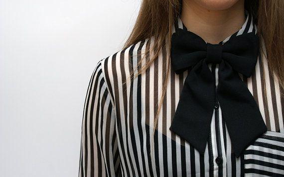 Ladies Bow Tie, Classic Look. Handmade, DIY, Women Bow Tie.