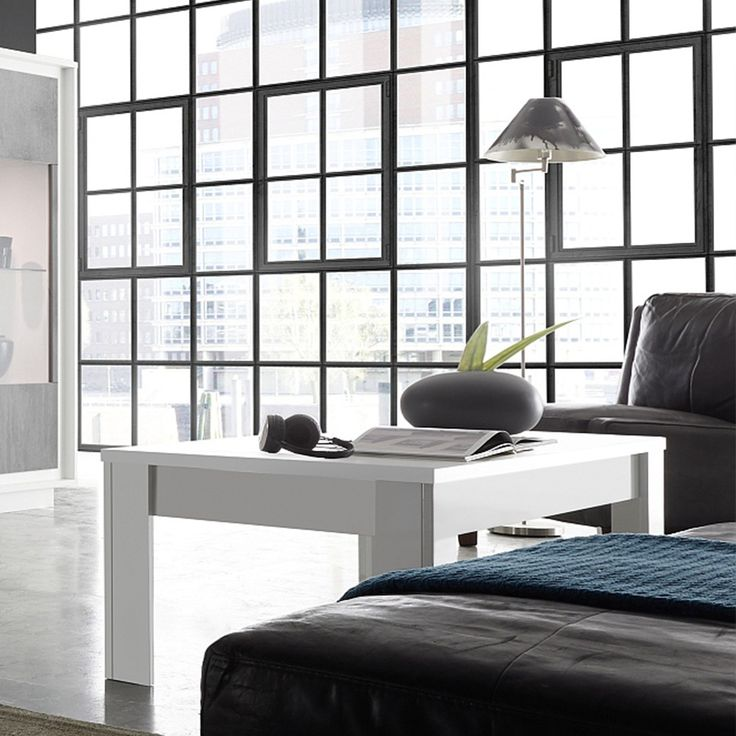 Table basse design blanc laqué mat HAMILTON