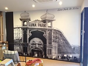 Custom Vintage Photo Wallpaper - LUNA PARK Vic