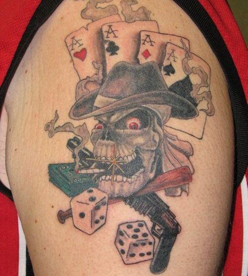Bildergebnis für gambling tattoos