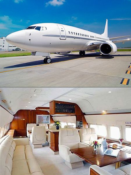 The Boeing Business Jet 2 certainly is that, with a thousand square feet, a bedroom, a boardroom, and an executive suite.