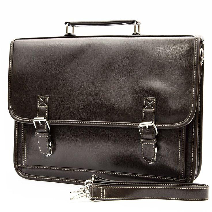Retro Classic design men's professional business briefcase messenger bag (coffee)