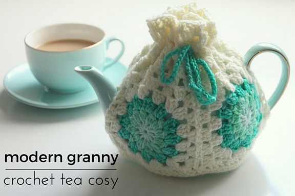 modern granny crochet tea cosy - free pattern                                                                                                                                                     More