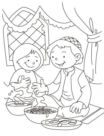 muslim holidays coloring pages - photo#7