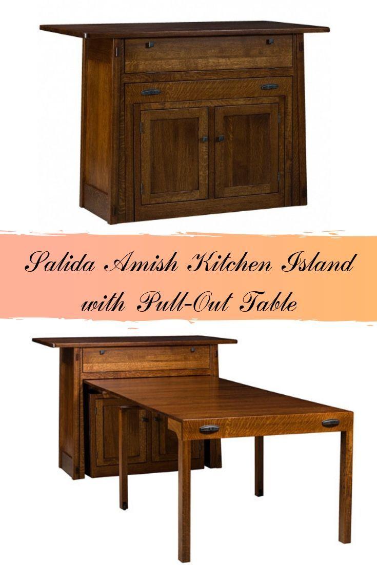 Kitchen Salida Amish Kitchen Island With Pull Out Table 3 503 60 Diy Kitchen Furniture Kitchen Island With Sink Portable Kitchen Island