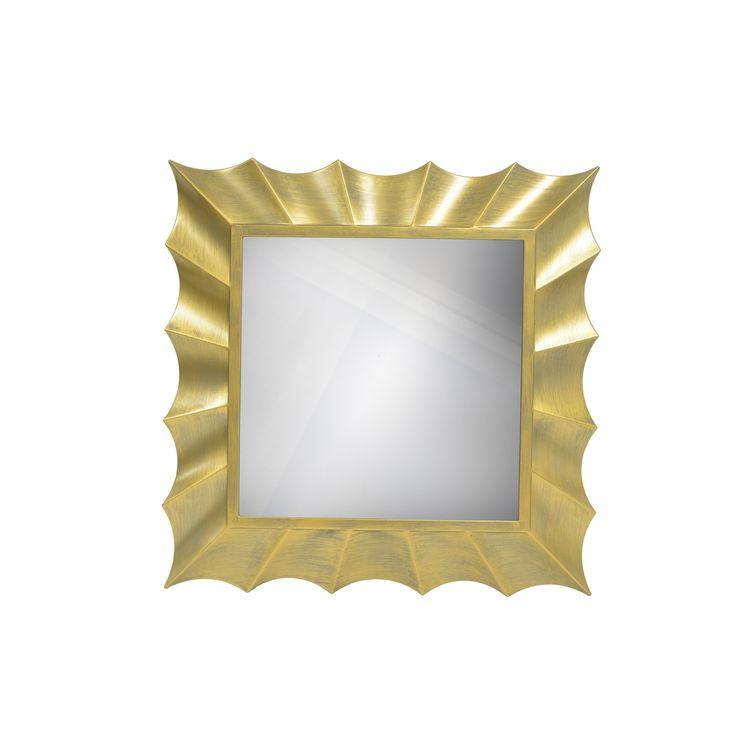 Decor Therapy Goldtone Wave 30-inch Square Mirror