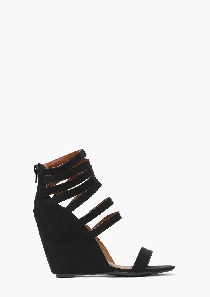 These strappy wedges are so good!