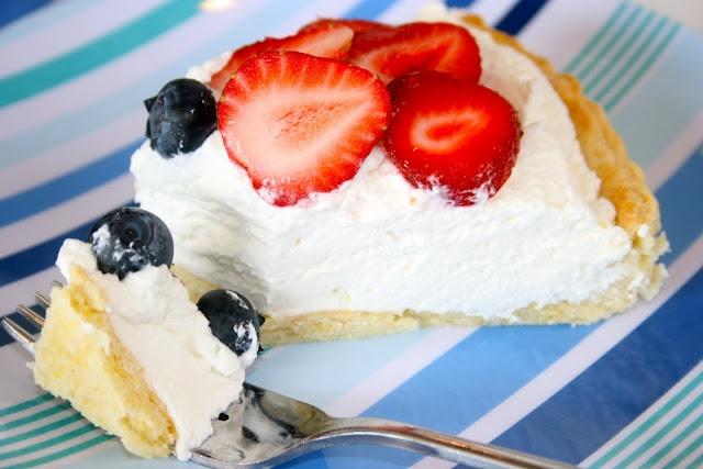 Strawberry & Blueberry Shortcake Tart | Feed Me | Pinterest
