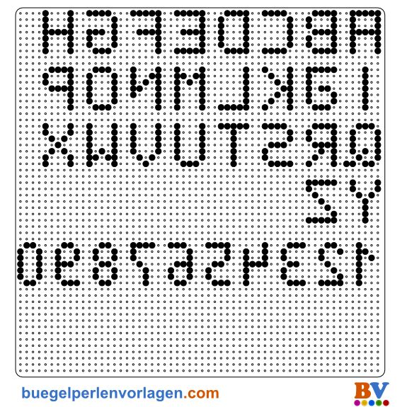 perler bead number patterns   Perler Bead Pattern Alphabet