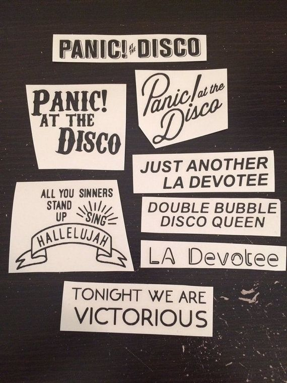 Lilly Iphone Wallpaper Panic At The Disco Stickers By Darthstickers On Etsy