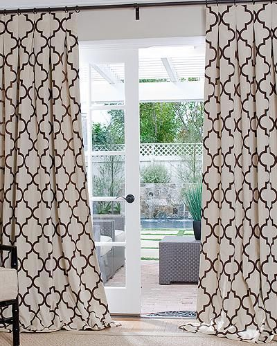 Quatrefoil curtain panels...something like $180 each....pretty but - 191 Best A Window Treatment Images On Pinterest