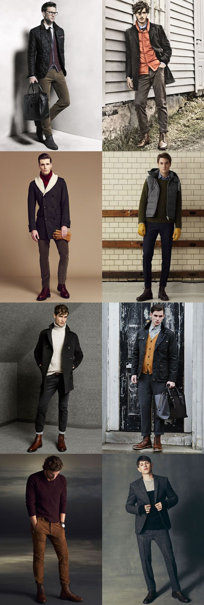 Men's Brogue Boots + Heritage Clothing Outfit Inspiration Lookbook
