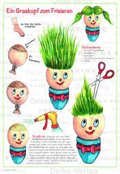 Basteln – Graskopf zum Frisieren – Basteln für Kinder