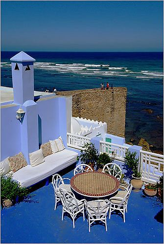 Picturesque Asilah, pretty village at the Atlantic coast