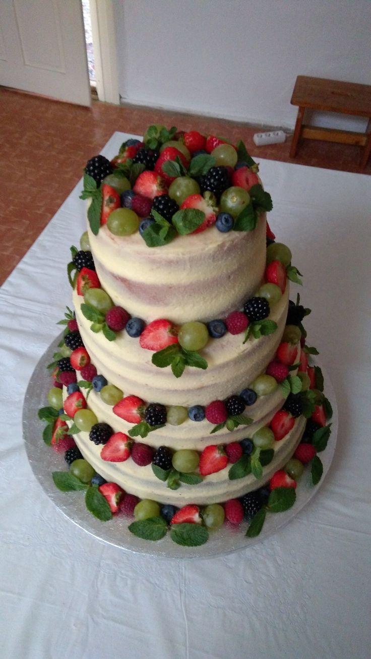 half-naked wedding cake