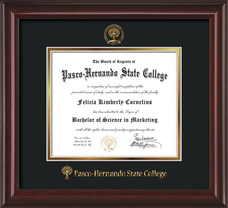 Mejores 16 imágenes de Pasco-Hernando State College Diploma Frames ...