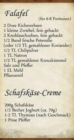 Elly's Art: Falafel und Schafskäse-Creme Nac…