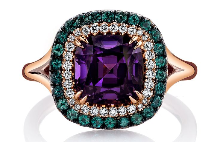 Omi Privé spinel and alexandrite ring | JCK On Your Market @omiprive #brittspick