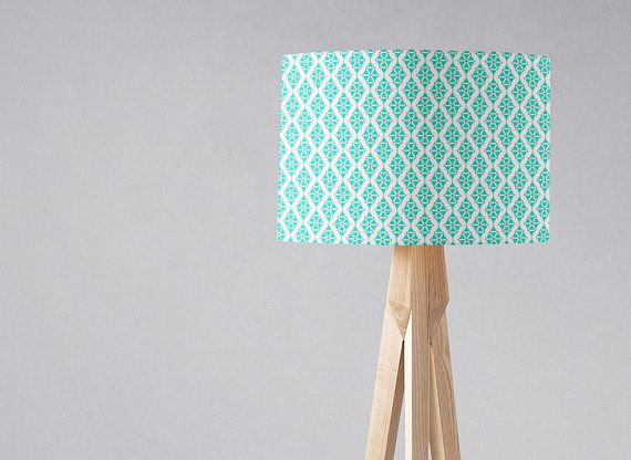 Pastel Geometric Lampshade Blue Lamp Shade Decor Home Light