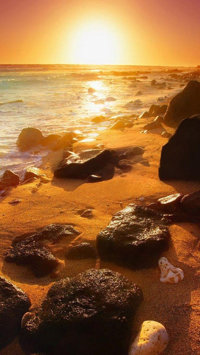 Summer Beautiful Sunset IPhone 5s Wallpaper