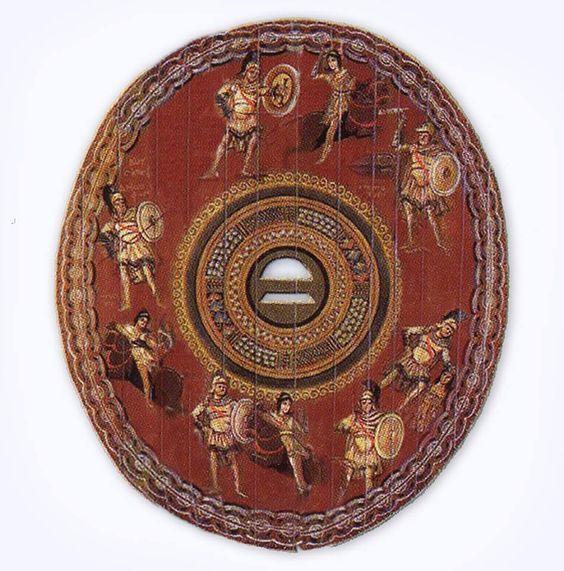 Roman shield clipeus, 2nd-3rd century A.D. Dura Europos.