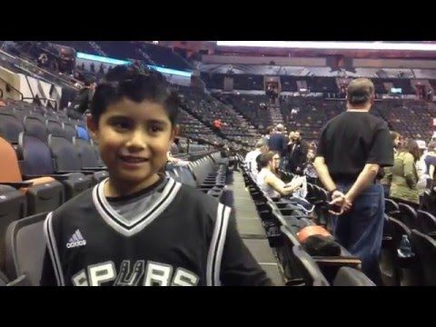 Wave hello to this awesome video! 👋 Eddie's first Spurs game! https://youtube.com/watch?v=nJBK7aSN_Eg