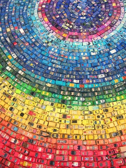 Colorful Rainbow of Matchbox Cars