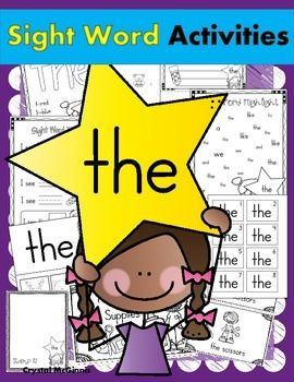 """FREE Sight Word """"The"""" Pack- 13 Activities Including Guided Reading & Word Work"""