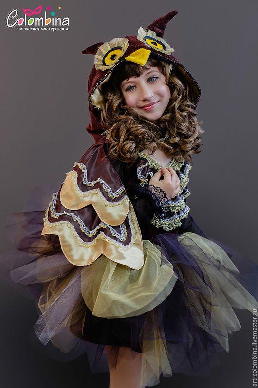 Детские карнавальные костюмы ручной работы. Ярмарка Мастеров - ручная работа. Купить костюм совы. Handmade. Коричневый, костюм птицы