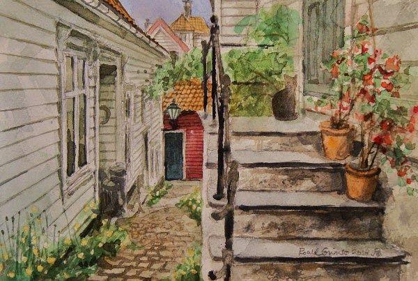 Street in Bergen Norway