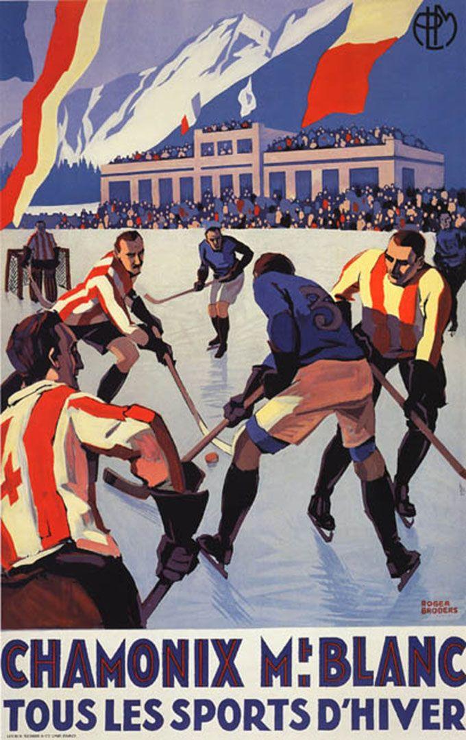 Vintage hockey poster