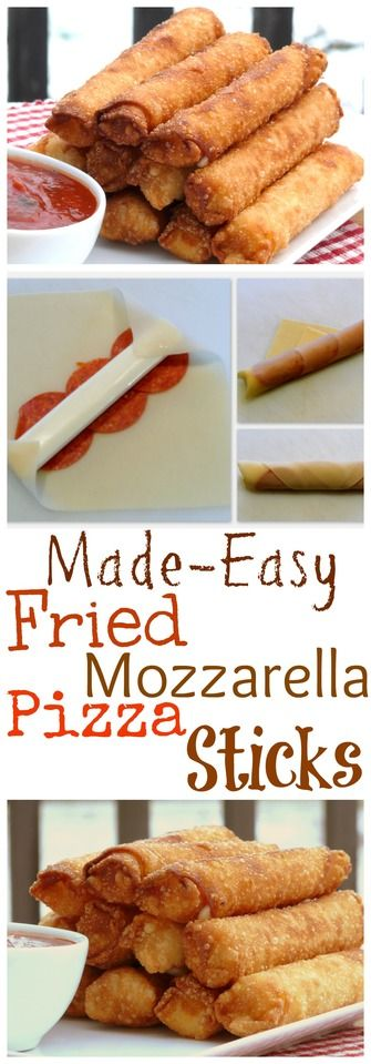 VIDEO + Recipe: Fried Mozzarella Pizza Sticks Made Easy from NoblePig.com.