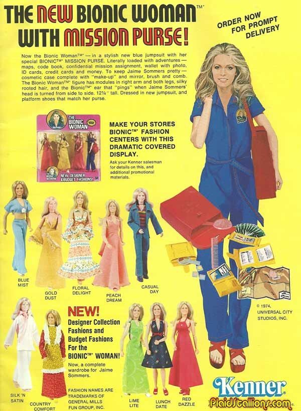 The Bionic Woman Doll - Jaime Summers. Still have mine with her Mission Purse intact!