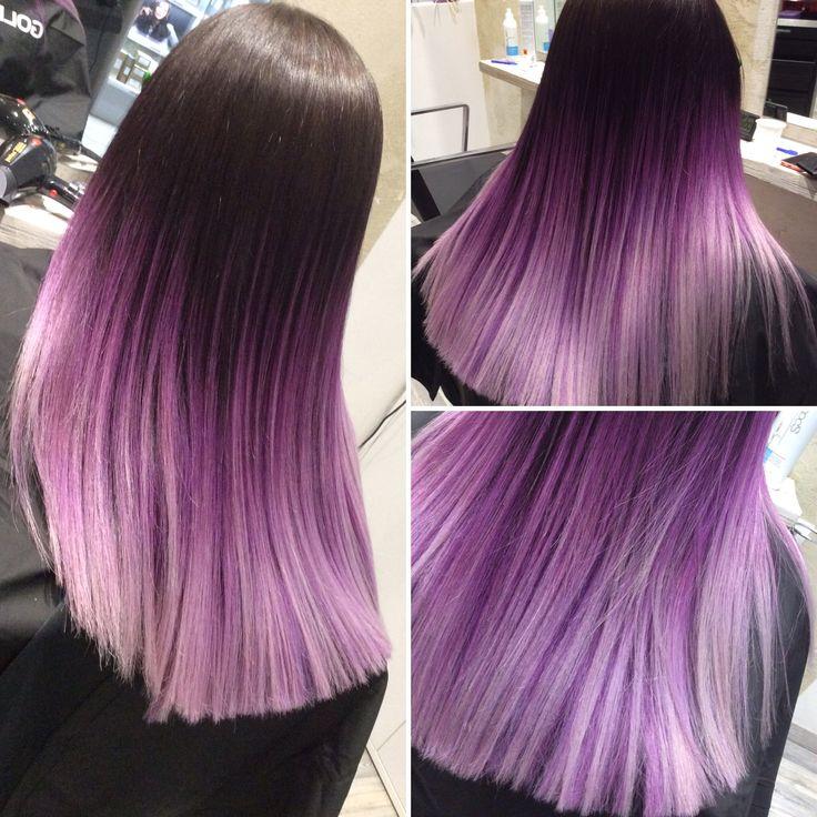 Capelli Viola Sfumati   Oltre fantastiche idee su colori per capelli viola dcb526343768
