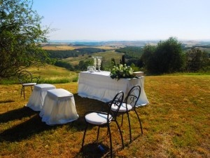 Wedding at Fattoria del Colle with panorama