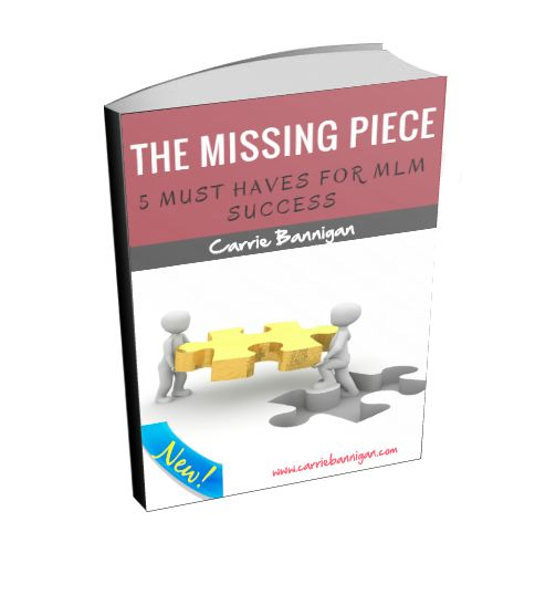 The Missing Piece #mlmsuccess