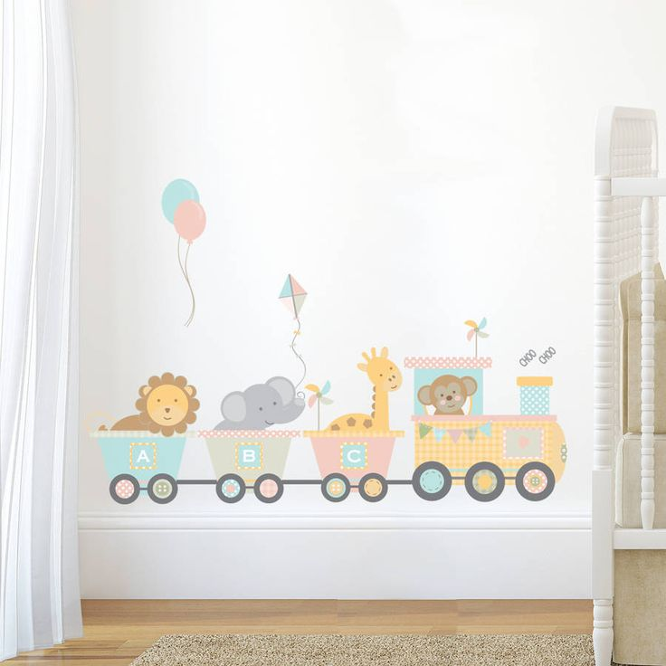 A Lovely Pastel Jungle Train Wall Sticker This Is Part Of Range