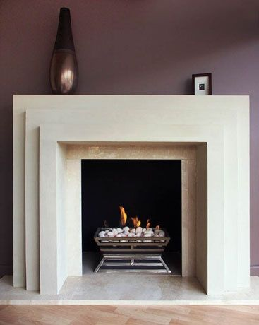 Art Deco with stepped form fireplace