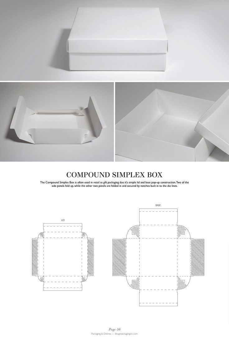 Compound Simplex Box - Packaging & Dielines: The Designer's Book of Packaging Dielines
