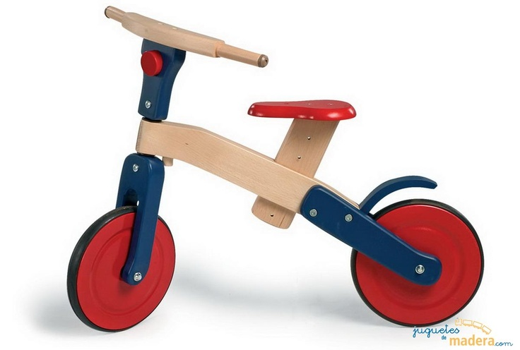 Bicicleta de diseño sin pedales, ligera y fácil de manejar. Favorece el sentido del equilibrio y prepara a los niños mayores de 2 años para montar en bicicletas verdaderas.