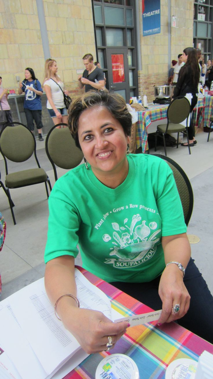 Ruba Chatterji one of our fine volunteers at Soupalicious Toronto 2014