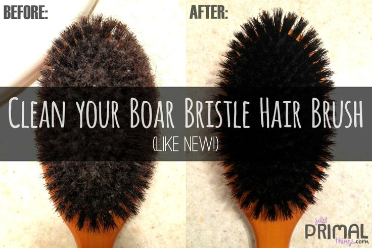 How to clean a Boar Bristle Brush – like new! | Just Primal Things #hippiehair