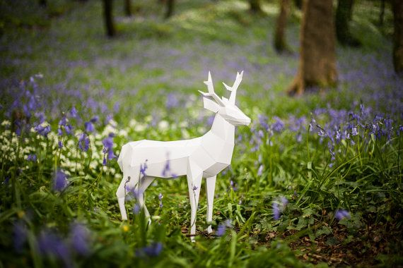 Paper Deer / Stag, Papercraft Template. Paper Forest Pet. Printable pdf – Products