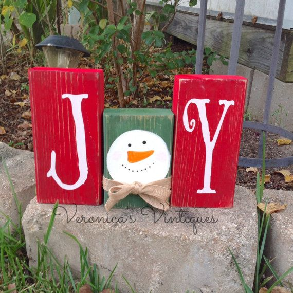 Christmas Joy Snowman Blocks