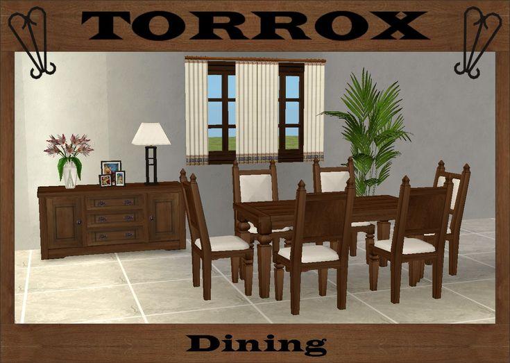 Mod The Sims   Torrox Dining · EsszimmergarniturenEsszimmerSpanischDie ...